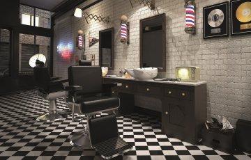 Salon Fryzjerski Projekt Wnetrza Konsolety Fotel Myjnia